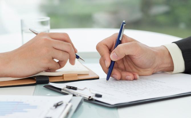 Подписание договора об эквайринге