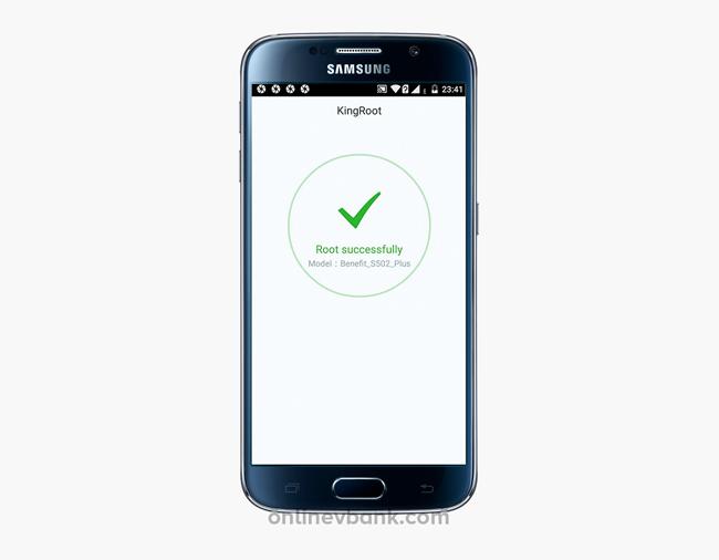 Успешная установка KingRoot на Андроид